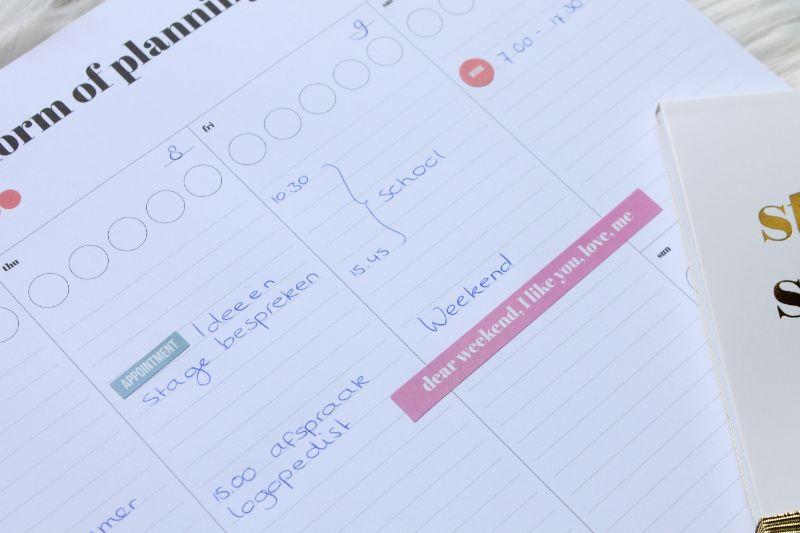 Winactie Studio Stationery : Een weekplanning maken met een sticker deskplanner winactie